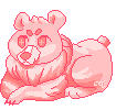 [f2u] pink bear by cqldwater