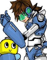 Megaman legends by Girutea