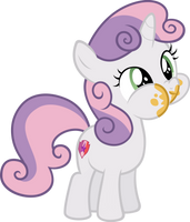 Sweetie Belle loves cake by Comeha