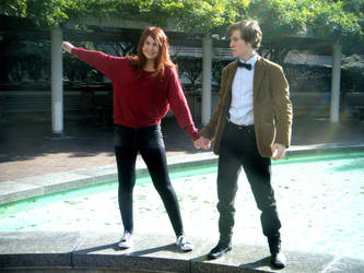 amy pond and the doctor by neoangelwink