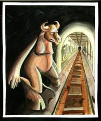 Lost Minotaur by AlyceInW0nderland