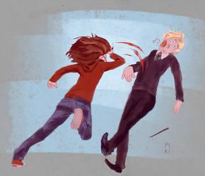 Hermione and Draco by pskibobby