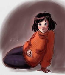 Girl Sketch by pskibobby