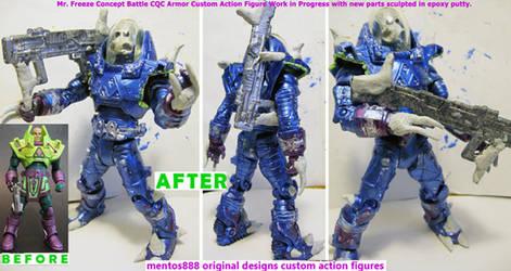 Mr. Freeze Custom Figure Work in Progress by mentos888