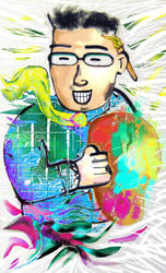Self-Portrait Business Card. by mentos888
