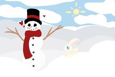 Snow Scene by GwendolynSavetts