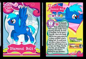 Diamond Bolt My Little Pony Trading Card by Shira-Yuri
