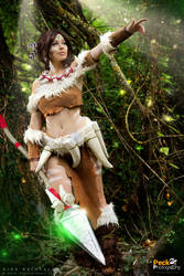 Nidalee (LoL): Claw or spear, your end's the same. by DidsRainfall