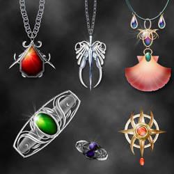 elemental jewelery by Darla-Illara