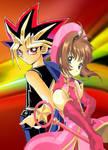 Yugi and Sakura by dbzandsm