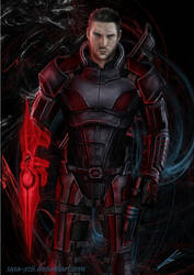 Mass Effect Shepard OC by Saxa-XCII