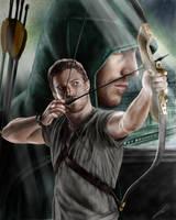 Arrow (Stephen Amell) drawing by Saxa-XCII