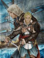Edward Kenway Assassins Creed 4 Drawing by Saxa-XCII
