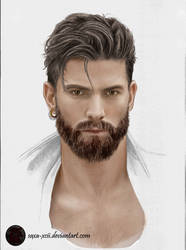 Portrait drawing by Saxa-XCII