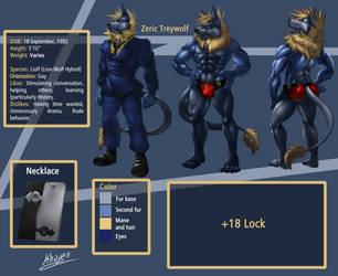 Reference Zeric Treywolf SFW Full size by ZericTreywolf