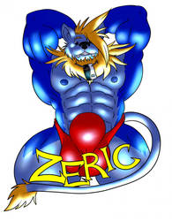 Zeric the Liolf Badge (Clean Version) by ZericTreywolf