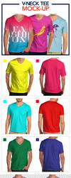 V-Neck Tee Mock-Up Pack by jamiefang