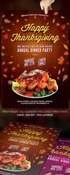 Happy Thanksgiving Flyer Template by jamiefang