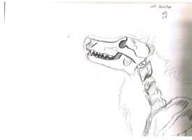 Wolf Skeleton by ZeviLoupGarou