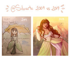 2009 vs 2019 challenge! by silviarts