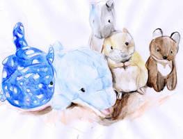 Stuffed Animals by De1in