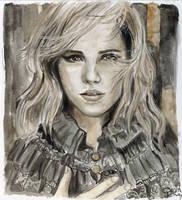 Emma Watson Burberry Portrait by De1in