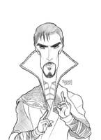 Doctor Strange Caricature by LorenzoSabia