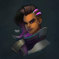 Overwatch: Sombra Color by LorenzoSabia