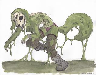 Sticky slimy zombie by AshtonPerson