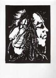Bob Marley (linocut) by elodagus