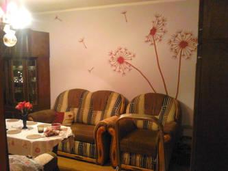 Dandelions Wall Painting by elodagus