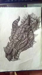 dragon skyrim by NuriaAragon