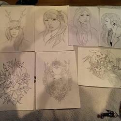 drawings by NuriaAragon