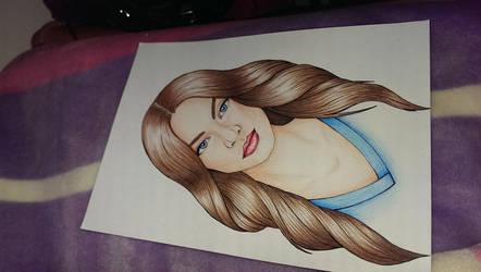 Brown hair girl by NuriaAragon