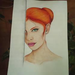 Fleckles  red hair by NuriaAragon