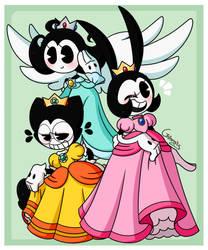 :[BATIM] Halloween: Toon Princesses: by Grimmixx