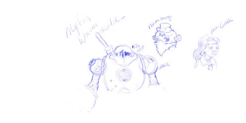 My first Wacom Sketches by GaHenM