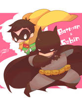 Batman  Robin by and38upaco