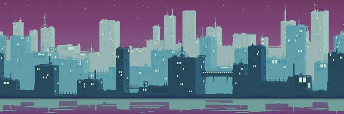 Pixel CityScape by Menasu-Art