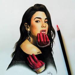Dua Lipa by kreativityart