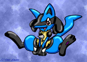 Chibi Lucario by Sweet-Chibi-Shadow