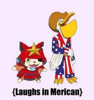 Laughing Mericans by Flajingman