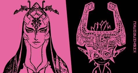 [Twilight Princess] Midna's Duality by KishinRinku