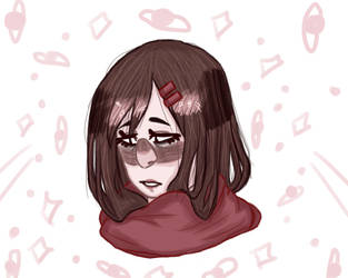 sad ayano whoops by Russiascutelilvodka