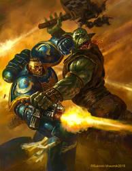 Games Workshop_warhammer-art test by orangus