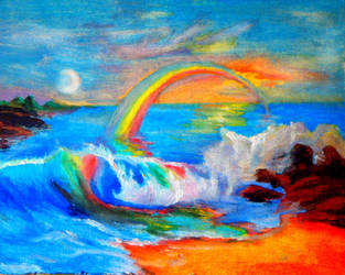 Rainbow beach by Haikas