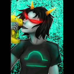 HOM3STUCK T3R3Z1 PYROP3 +Terezi libra icon for 10p by G4B2TER