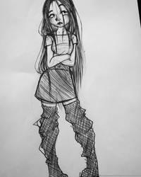 Un Dibujo Rapido! by sasha-creepy