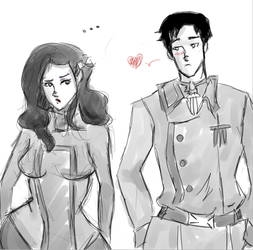 iroh and asami by 123chachy