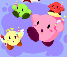 Kirby- Kirbies Go by FrostyLunar